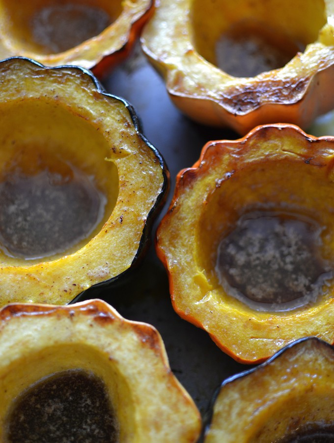 Roasted Acorn Squash with Brown Sugar Butter