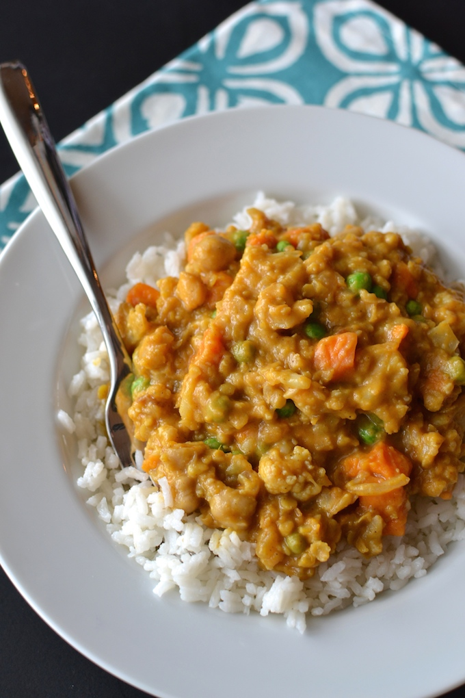 Slow Cooker Vegetarian Lentil Curry - Sweet Peas and ABCs