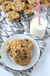 Cherry Oatmeal Cookies (Egg-Free!)