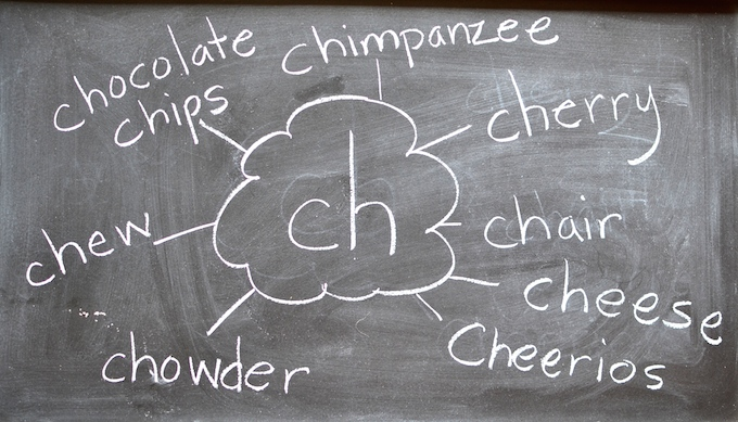"Explore the digraph ""ch"" by brainstorming words that start with the sound. ~sweetpeasandabcs.com"